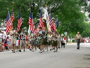 Boy Scouts Marching on the Fourth of July